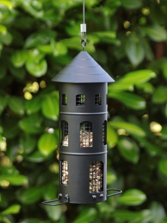 Wildlife Garden Vogelhaus Kombi-Futterstelle schwarz - Pic 2