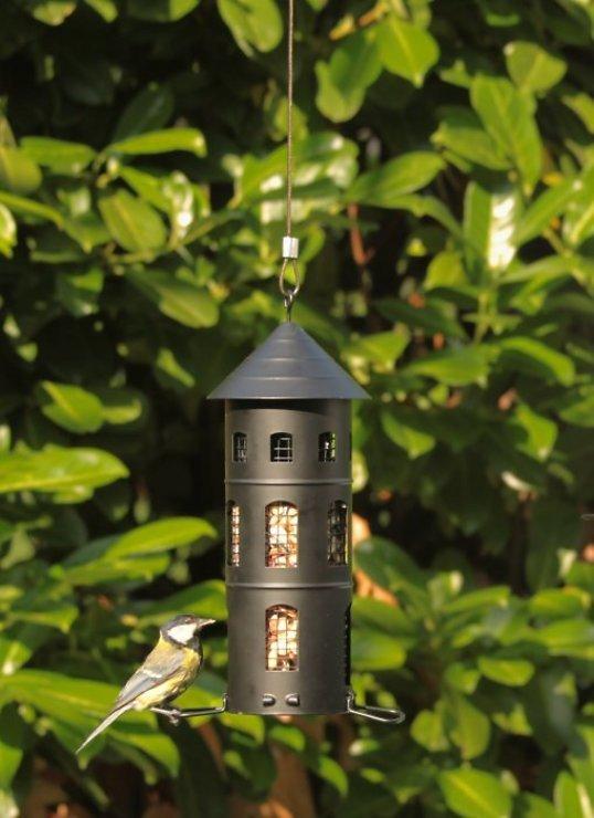 Wildlife Garden Vogelhaus Kombi-Futterstelle schwarz - Pic 4