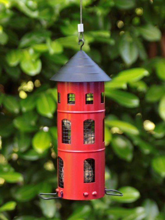 Wildlife Garden Vogelhaus Kombi-Futterstelle rot - Pic 1