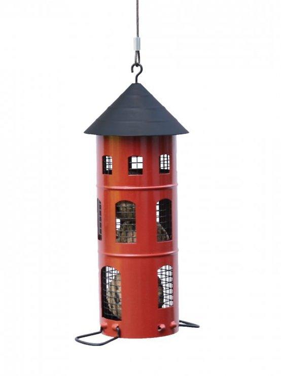 Wildlife Garden Vogelhaus Kombi-Futterstelle rot - Pic 2