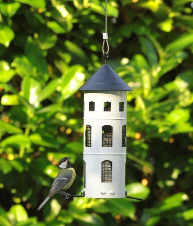 Wildlife Garden Vogelhaus Kombi-Futterstelle weiß - Pic 6