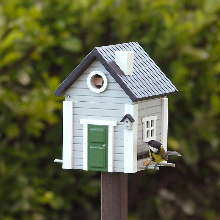 Wildlife Garden Multiholk Vogelhaus Graues Haus - Pic 2