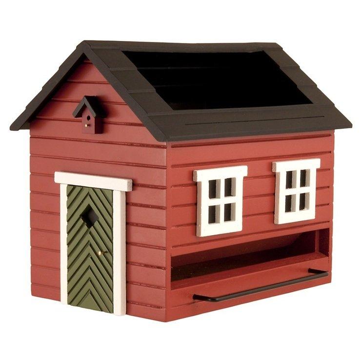 Wildlife Garden Vogelfutterspender mit Bad Rotes Haus - Pic 1