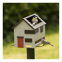Wildlife Garden Vogelfutterspender mit Bad Graues Haus